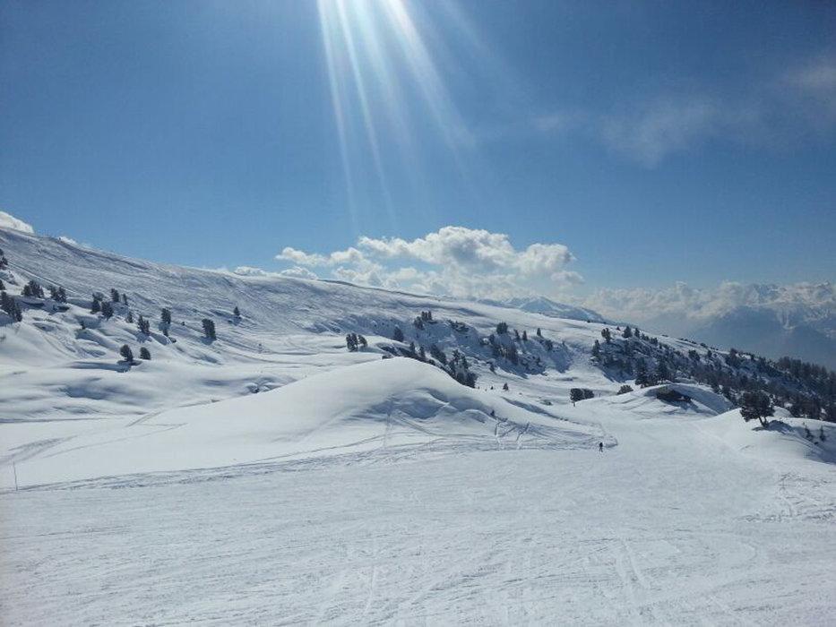 Skifahren in Nax - © Télé Mont-Noble SA