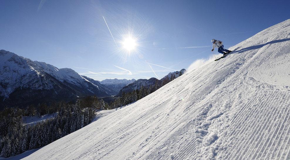 Skifahren am Kranzberg in Mittenwald - © Alpenwelt Karwendel | Wolfgang Ehn