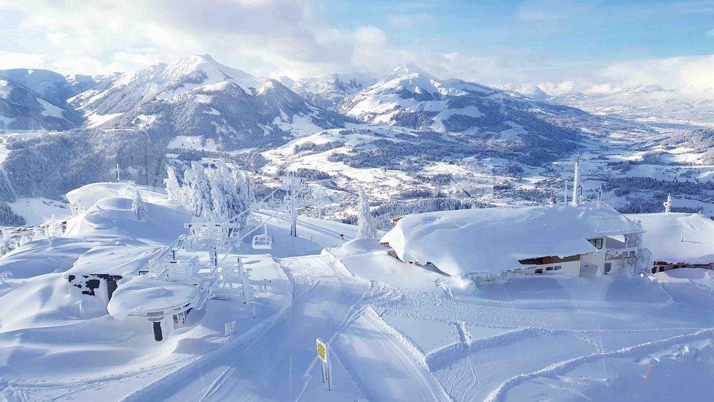 Tolle Winterlandschaft im Pillerseetal - © Bergbahn Pillersee