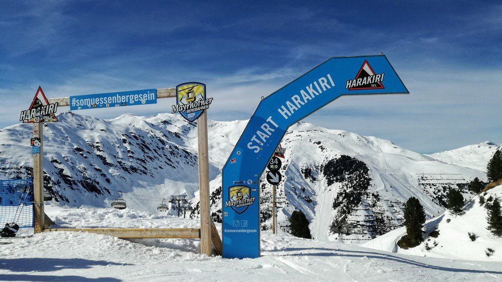 Harakiri - najbardziej stroma trasa narciarska w Austrii (Zillertal - Finkenberg) - © Tomasz Wojciechowski
