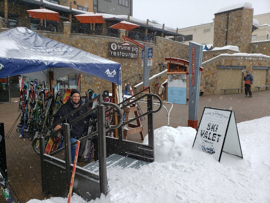 Ski valet service is among the perks that make all the difference. - © Heather B. Fried