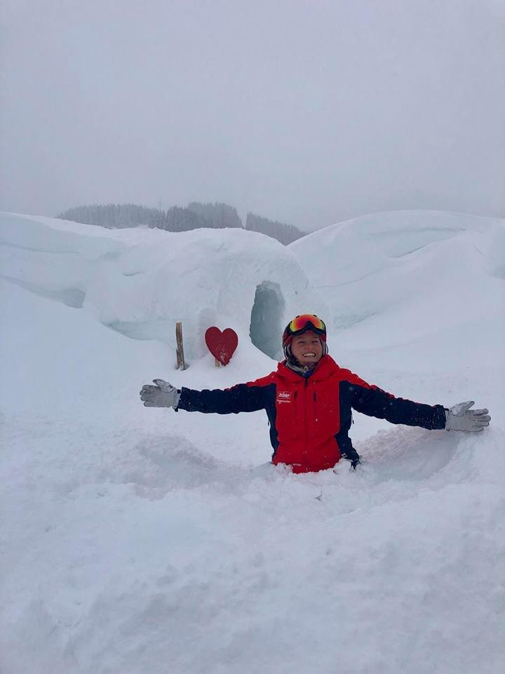 Hromada nového sněhu ve středisku SkiWelt Wilder Kaiser Brixental - © Facebook SkiWelt Wilder Kaiser Brixental