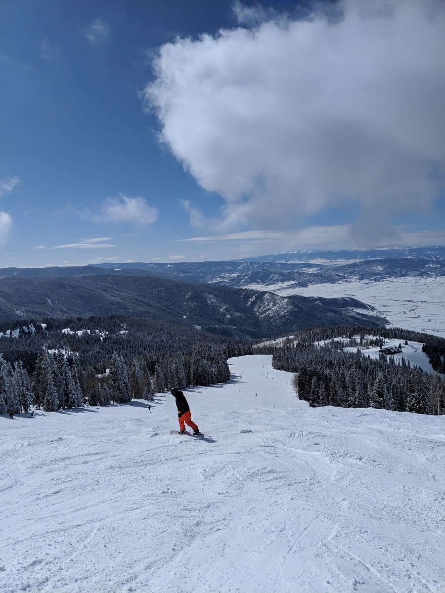 High Noon on a clear ski day at Steamboat Ski Resort. - © Joan Danver
