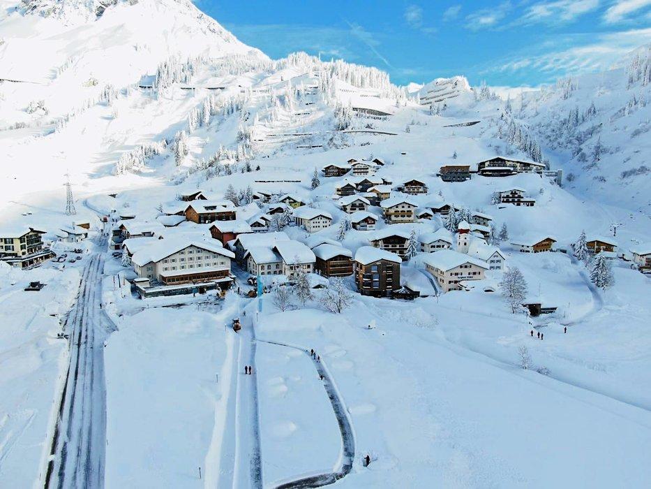 Verschneites Stuben am Arlberg im Januar 2019 - © Tourismusbüro Stuben am Arlberg