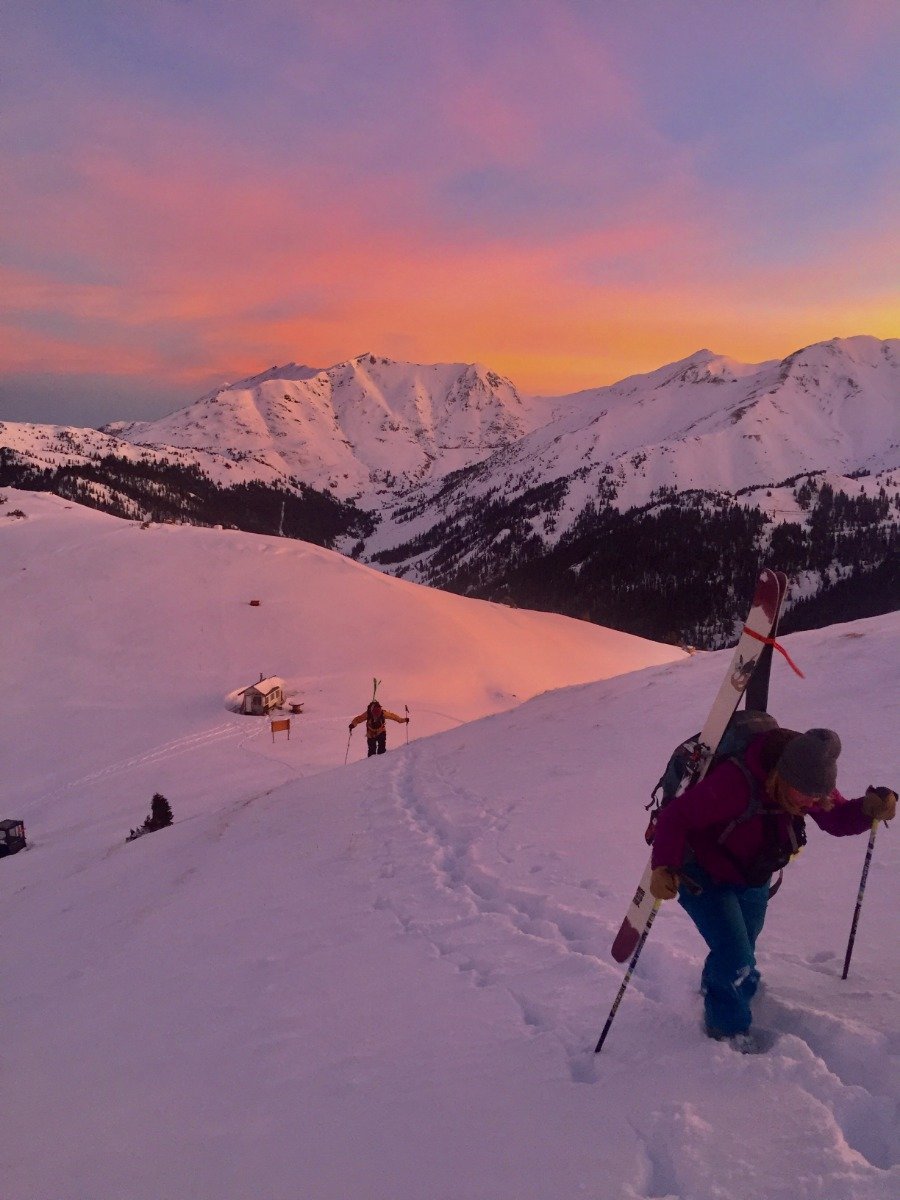 Sunrise at Silverton.  - © Caleb Leland, courtesy of Silverton Mountain