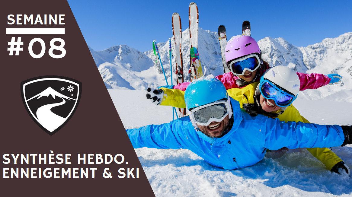 Rapport hebdomadaire du 20 février 2019 et synthèse des conditions d'enneigement dans les stations de ski françaises (évolution des hauteurs de neige, taux d'ouverture des domaines skiables...) - © Gorilla - Fotolia.com