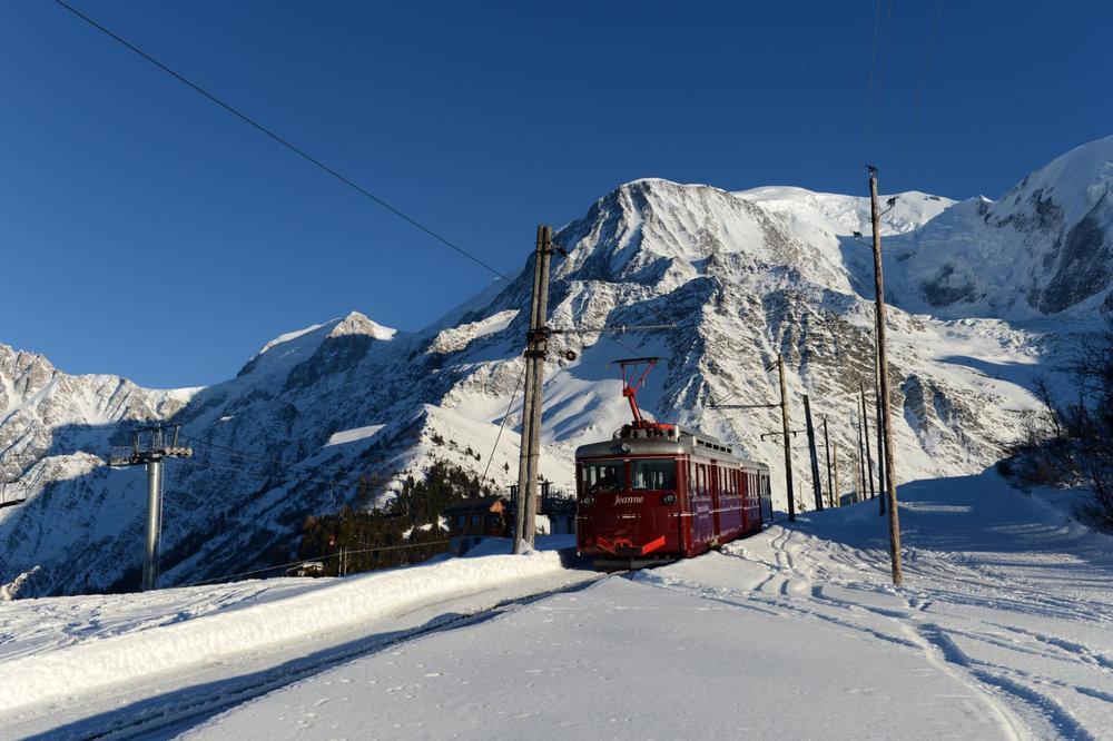 Accéder aux pistes de ski en tramway, l'une des caractéristiques de Saint Gervais - © Facebook Saint-Gervais Mont-Blanc