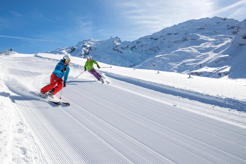 Skifahrer in Engelberg Titlis - © Oskar Enander