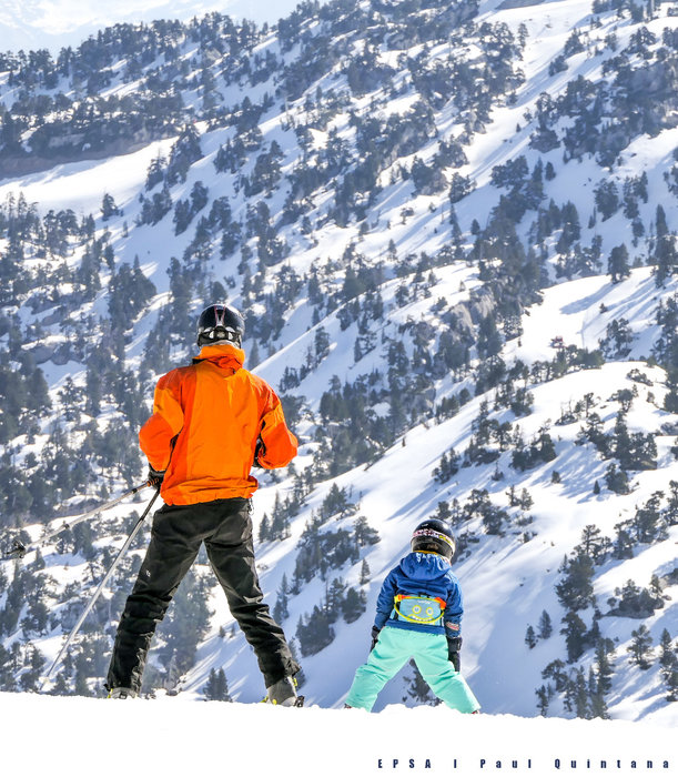 Ski en famille à la Pierre Saint Martin - © EPSA / Domaine de la Pierre Saint Martin