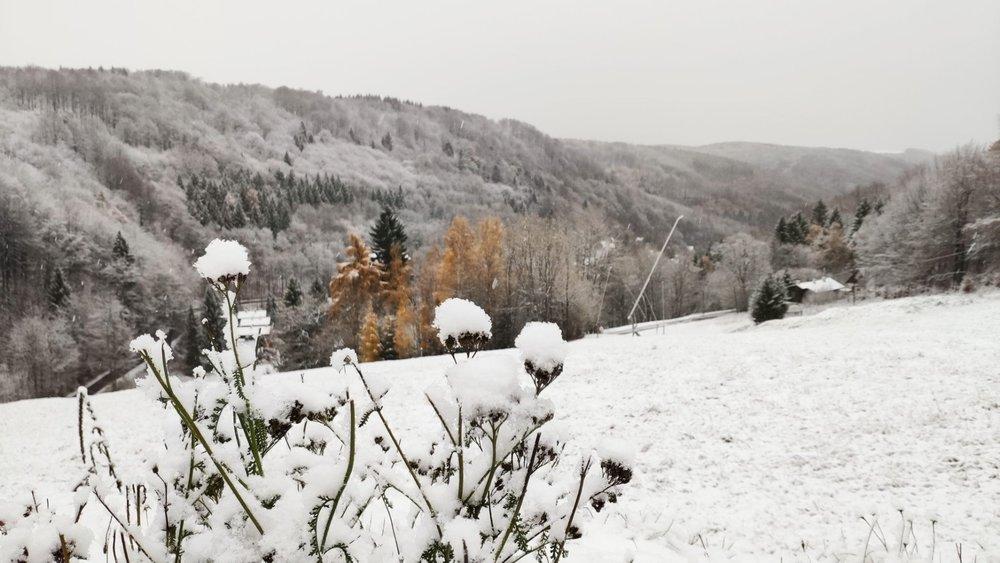 První sníh na Telnici (13.11.2019) - © facebook | Zadní Telnice