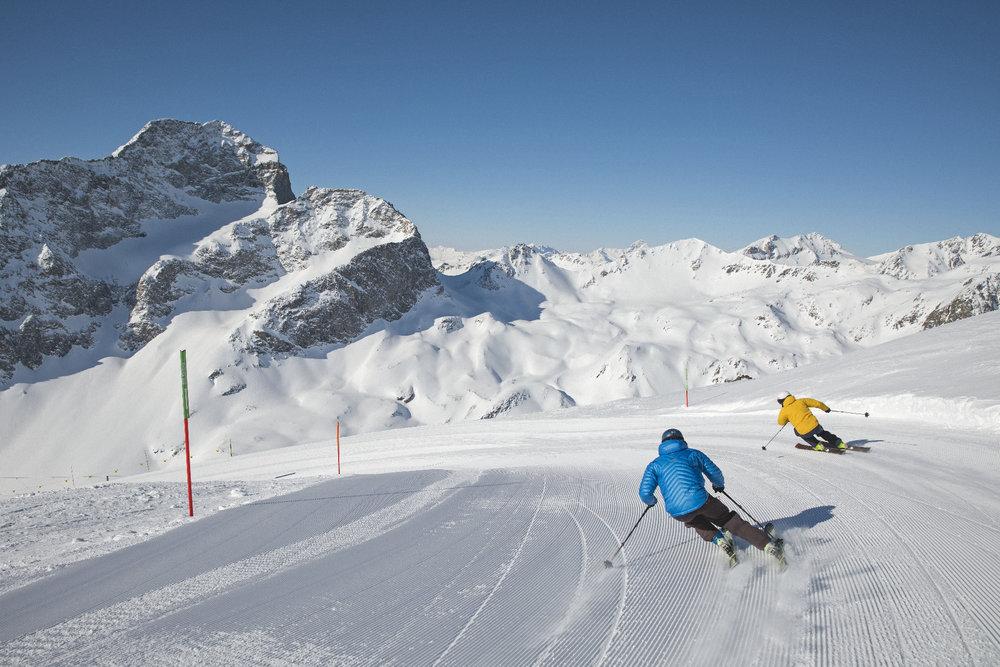Perfekte in Pisten in St. Moritz - Corviglia - © Filip Zuan