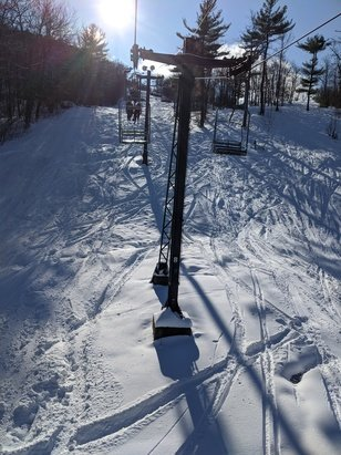Crotched Mountain - 12/7: looks like all the trails will be open in a week or so if weather holds. Some pretty packed groomed trails already with some icy conditions. Some non groomed trails have amazing powder. - © Guest