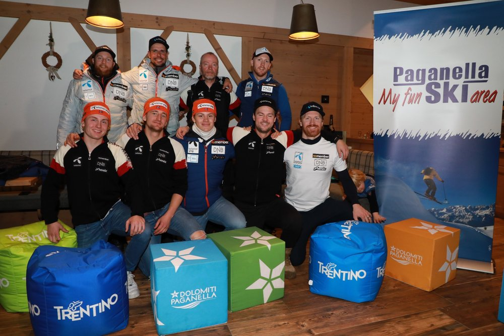 Norway Ski Team in Paganella