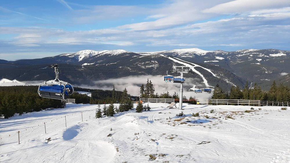 Skiareál Špindlerův Mlýn 15.1.2020 - © facebook | Skiareál Špindlerův Mlýn
