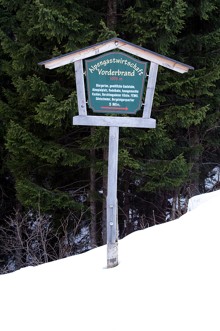 A sign at Berchtesgadener Land, Germany