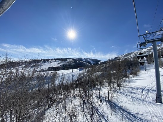 Park City - Beautiful day, lovely snow base, mountains etc. So much to be thankful for.  - © Brett King