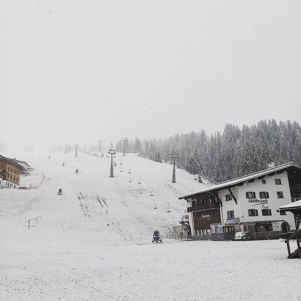 In Lech Zürs meldete sich der Winter auch langsam an - © Lech Zürs