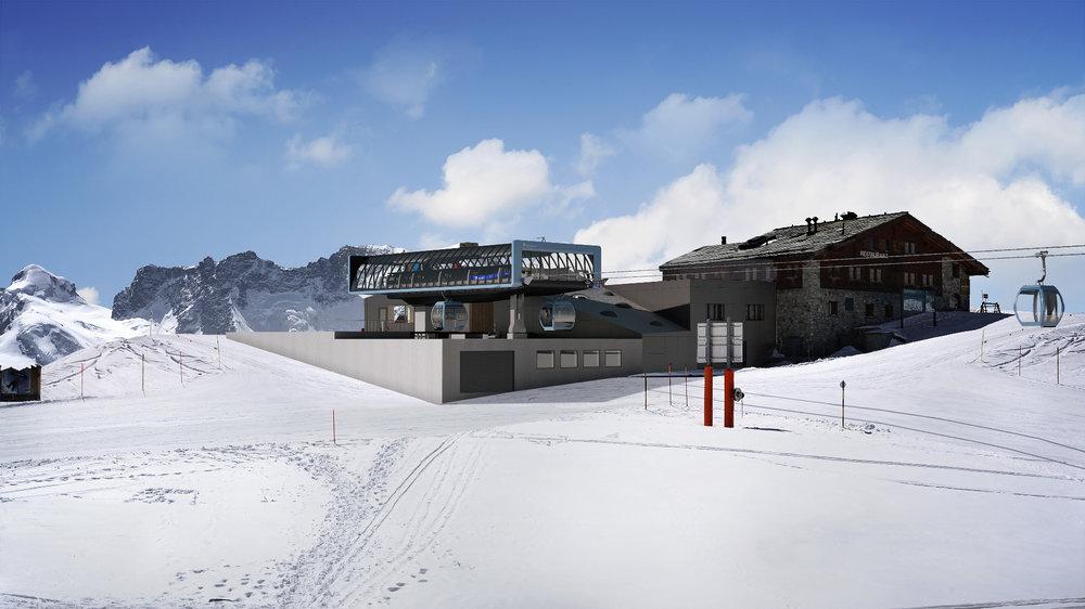 So soll die Bergstation der Gondelbahn Kumme in Zermatt aussehen. - © Zermatt Bergbahnen AG
