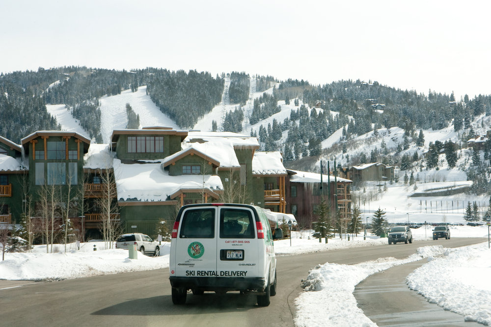 Ski Butlers van on its way to an in-room fitting in Deer Valley, Utah.