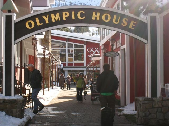 Entrance to Olympic House in Squaw Valley, California