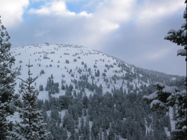 A view of the mountains in Grand Targhee, Wyoming