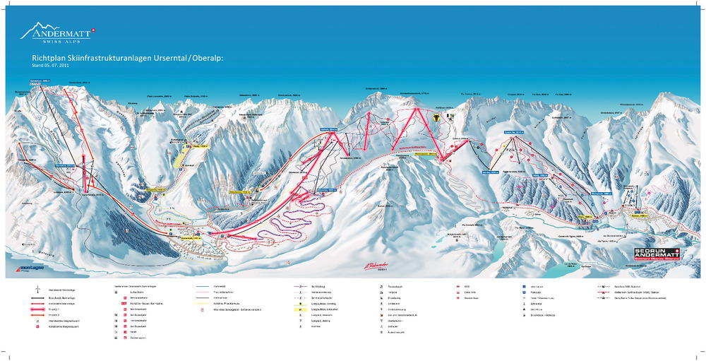 Oversikt over utviklingsplanene for Andermatt - Sedrun - © Andermatt Swiss Alps