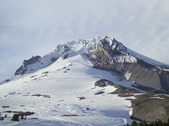 The Palmer Snowfield is open for summer and fall skiing on Mt. Hood.  - © Michelle/Flickr