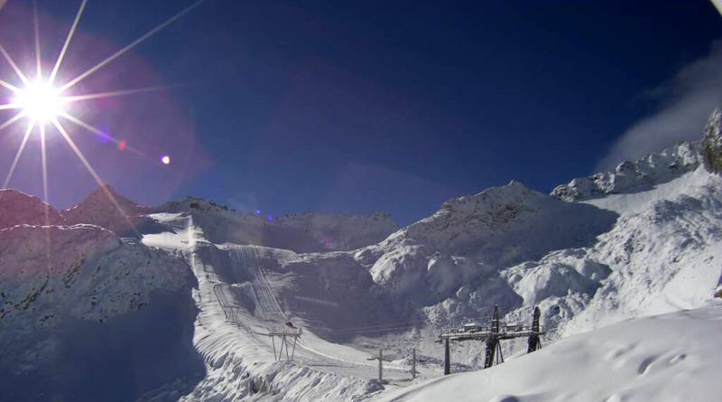 Ghiacciaio Presena, nevicata del 15 Ottobre