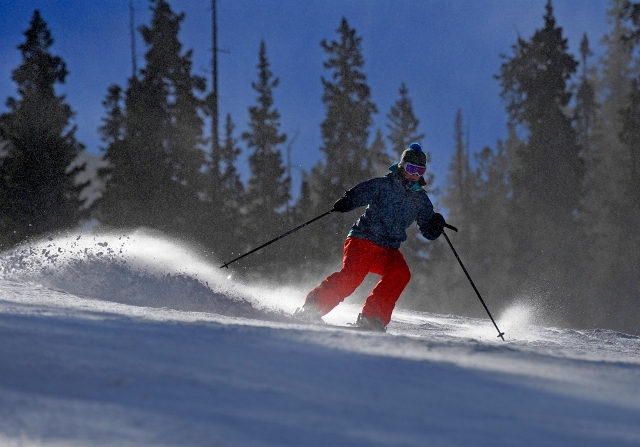A skier takes their first turns of the season. - © Jack Dempsey