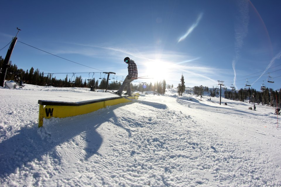 Skier Kyle Murphy enjoying the early season snow at Boreal. - © Boreal Mountain Resort