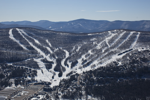 Snow coats the Catskills Mountains and the trails of Windham. Photo Courtesy of Windham Mountain.