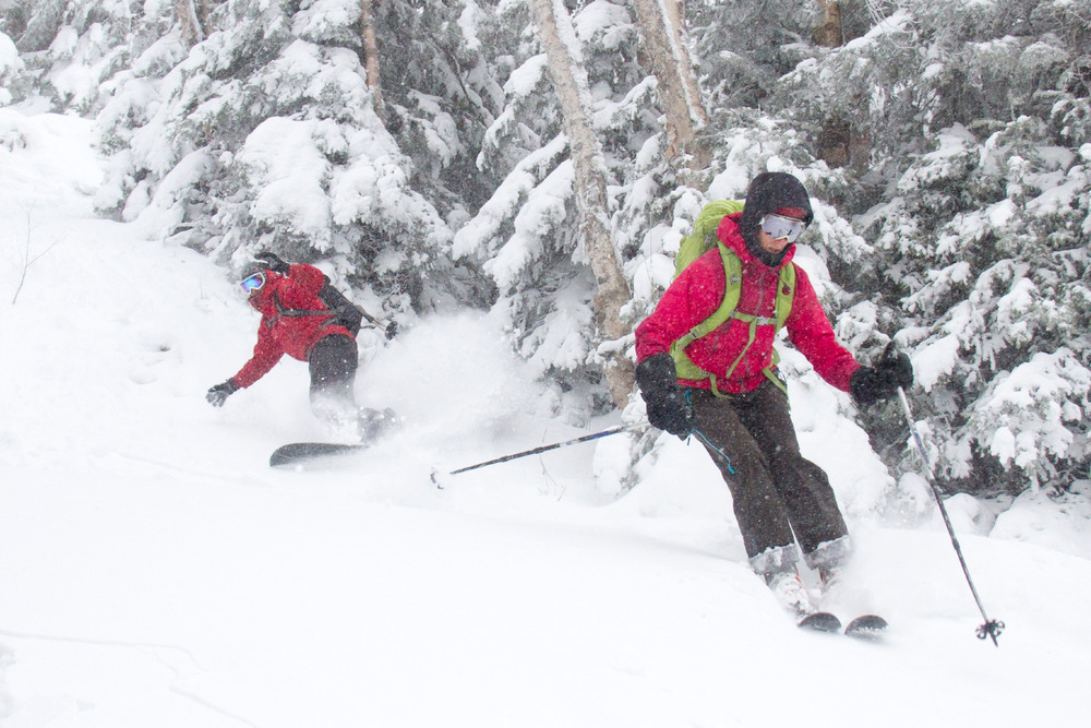 Even though there was a few great days of strong snowfall in December, ski areas across the northeast struggled to open natural-snow terrain during the holidays. - ©Ember Photography