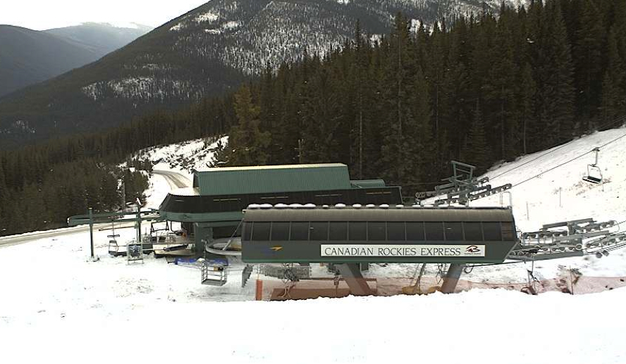Early season snow is building at Marmot Basin. Photo courtesy of Marmot Basin webcam.