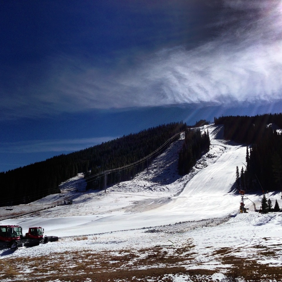 Looking up at the U.S. Speed Center Downhill course at Copper Mountain.