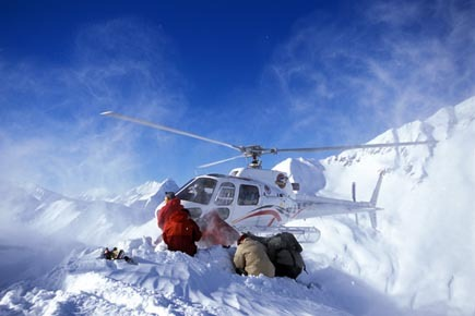 Getting ready at Mica Heli-Skiing. - © Mattias Fredriksson
