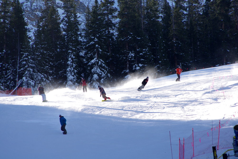 Arapahoe Basin skiers and riders enjoy opening dayh for the 2011-2012 season. Photo Courtesy Arapahoe Basin.