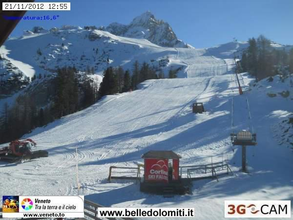 Cortina webcam, Dolomiti Superski. Nov. 21, 2012 - ©Belle-Dolomiti
