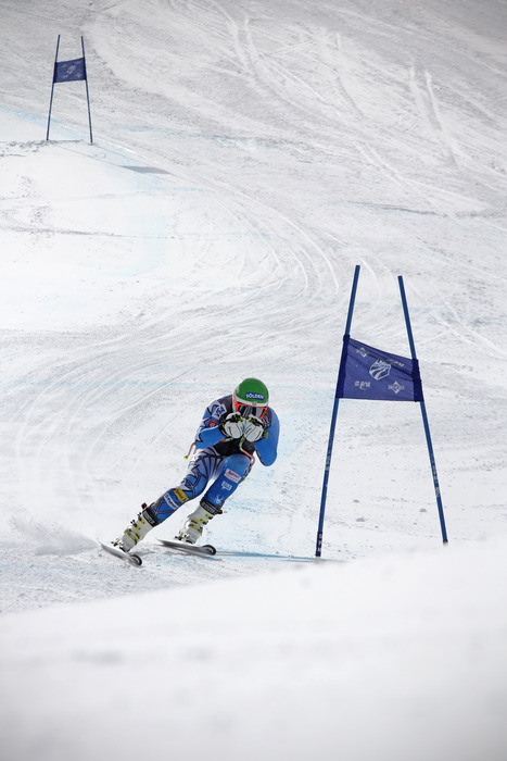 U.S. Olympian Bode Miller skis at the U.S. Ski Team Speed Center At Copper. Photo Courtesy Copper Mountain Resort and Tripp Fay.