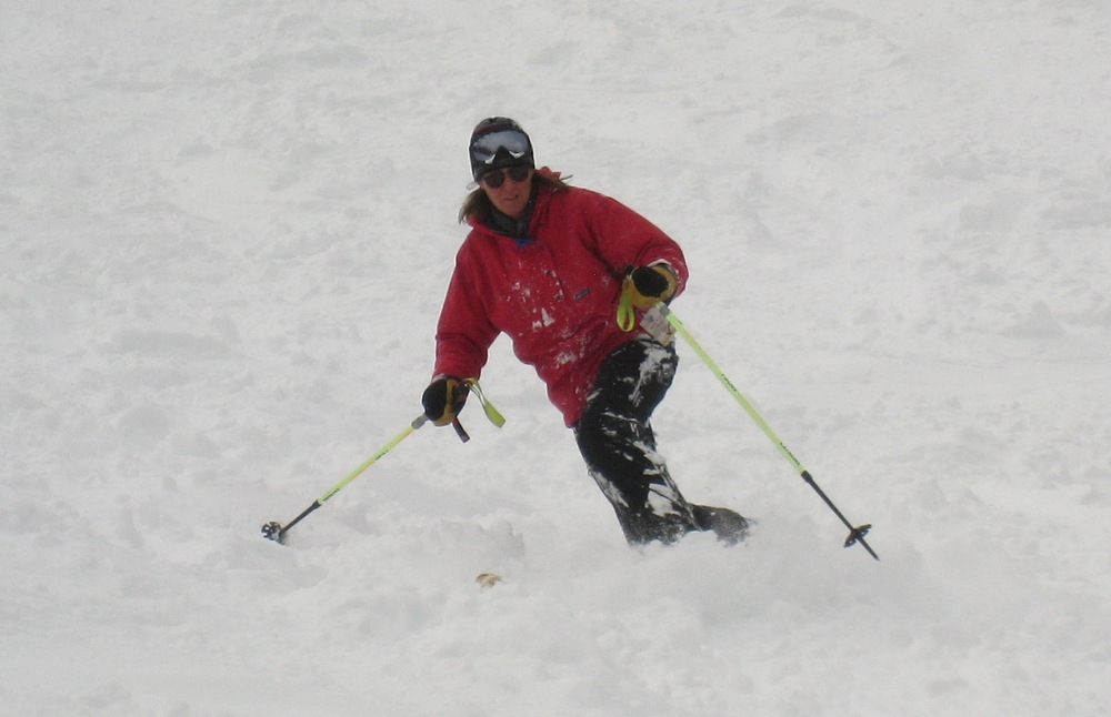 A telemark skier at Castle Mountain. Photo by Becky Lomax. - © Becky Lomax
