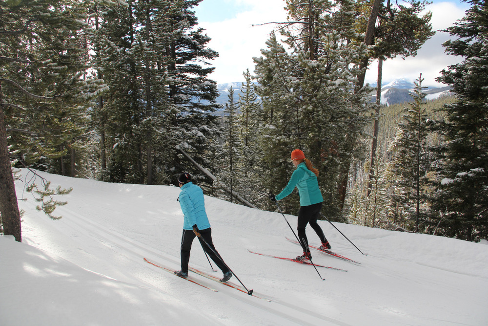 Skiers at Lone Mountain Ranch. Photo by Brian Schott, courtesy of Lone Mountain Ranch. - ©Brian Schott