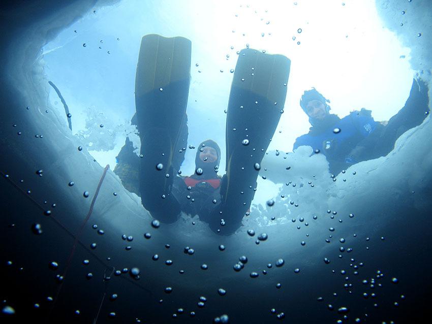 Plongée sous glace - © Monica Dalmasso / OT de Tignes