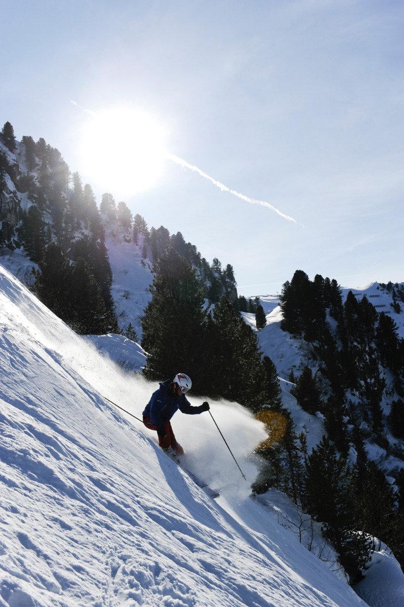 """Auf der """"Harakiri"""" schlottern selbst Profis die Knie. - © Mayrhofner Bergbahnen AG"""