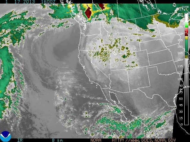 Seasonal temperatures return to the West Coast. - © NOAA