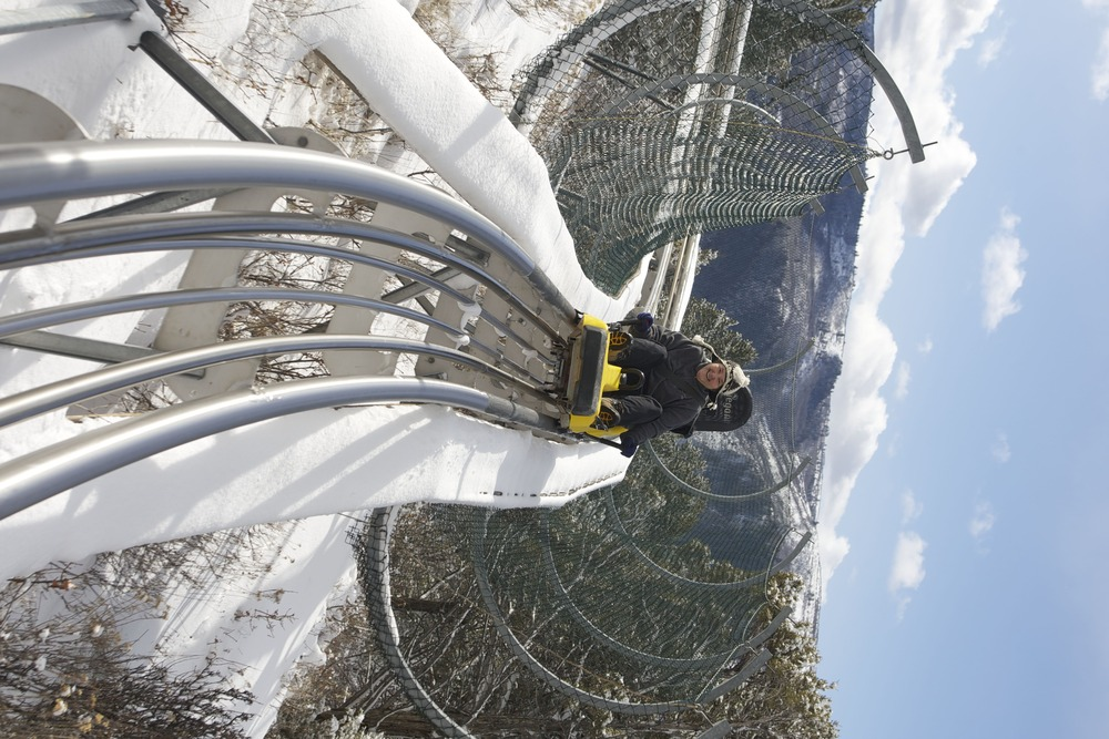 The Alpine Coaster is one of the longest in Colorado. - © Glenwood Caverns Adventure Park