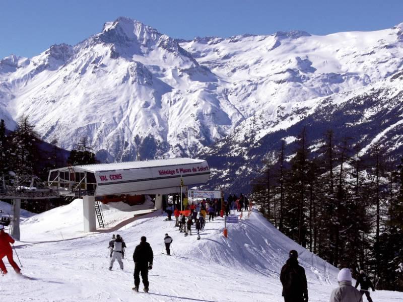 Telesiege et Dent Parrachee à Val Cenis Vanoise - © © P.Huart / Haute Maurienne Vanoise