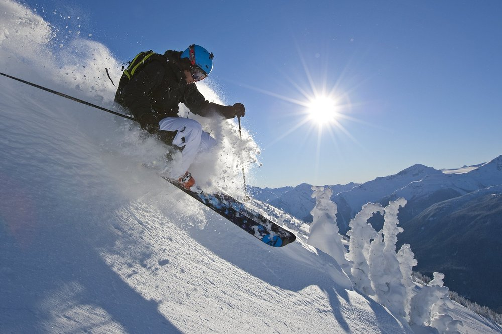 A skier cuts powder at Whistler Blackcomb. - © Paul Morrison/Whistler Blackcomb