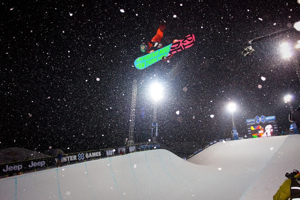 Matt Ladley survived the Snowboard Superpipe elimination round to advance to the finals. - © Jeremy Swanson