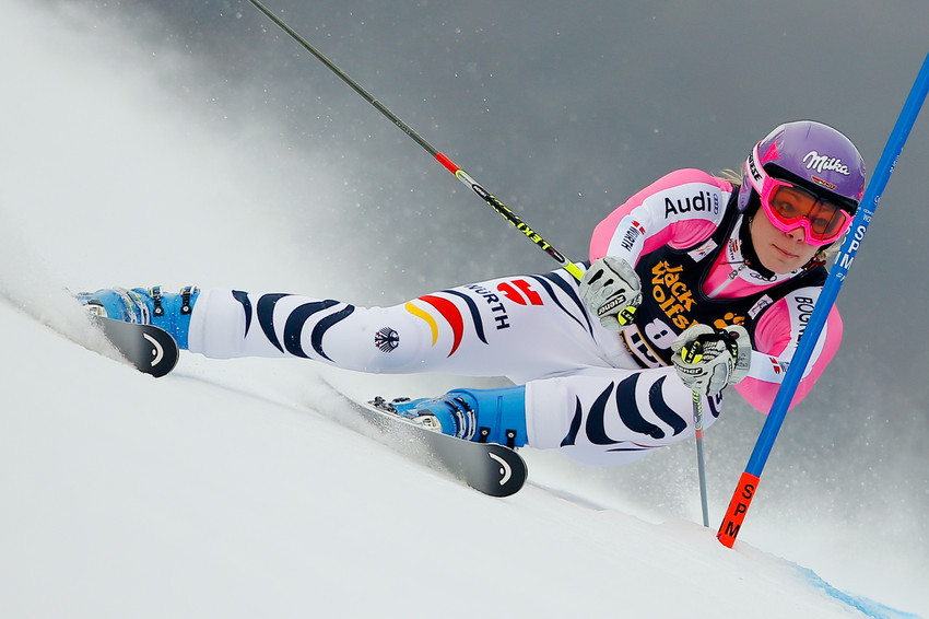 Trotz Grippe fuhr Maria Höfl-Riesch zu Platz vier im Riesenslalom von Maribor, patzte dann aber im Slalom - © Stanko GRUDEN/AGENCE ZOOM