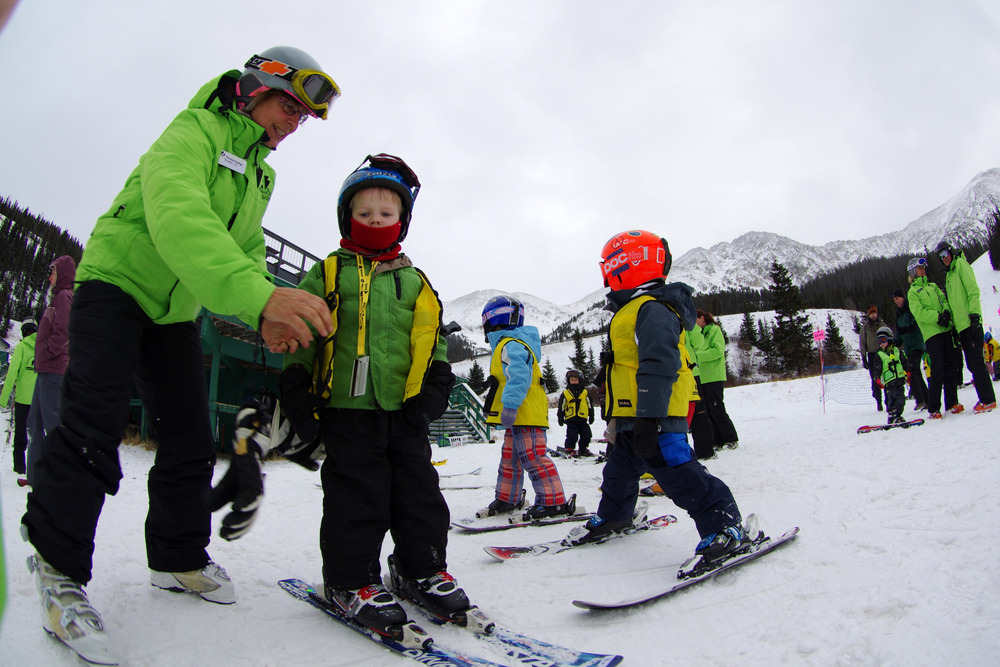 Learn to ski or ride with an instructor at Arapahoe Basin. - © Photo courtesy Arapahoe Basin.