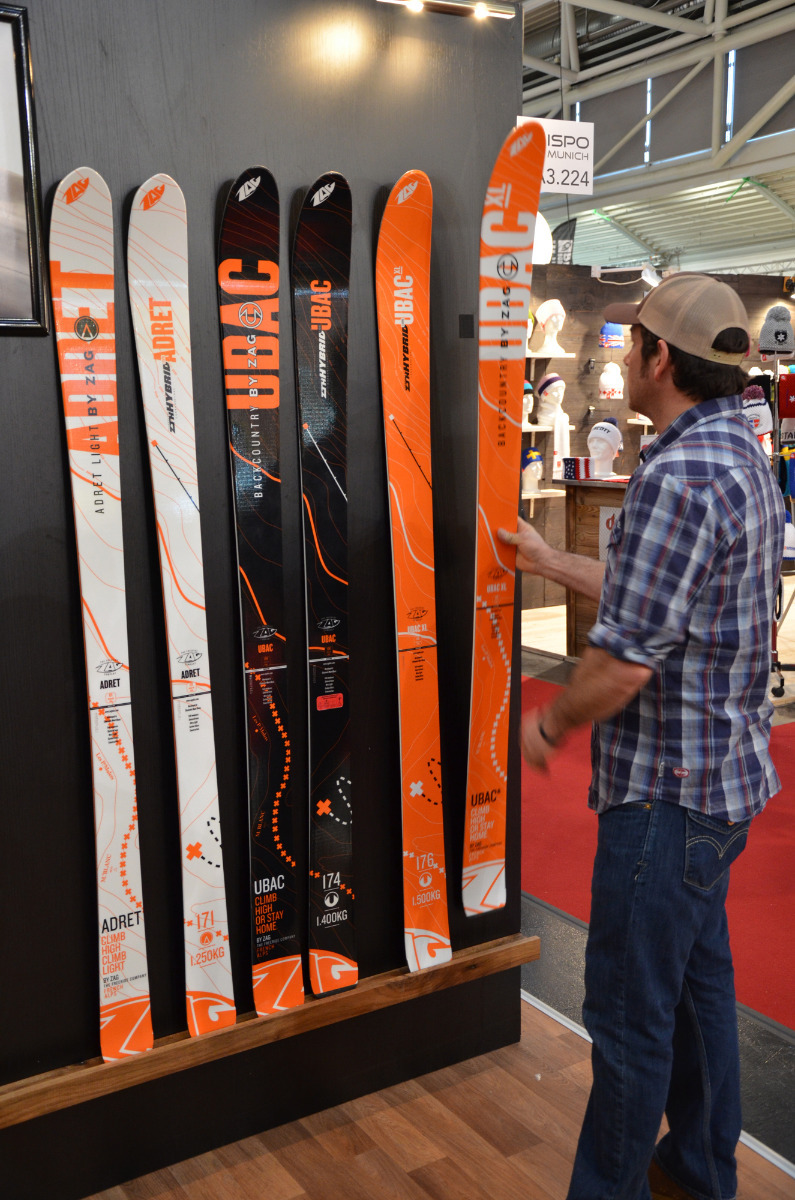 The ZAG touring skis only weigh between 1250 and 1500 grams each  - © Skiinfo